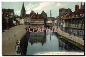 Amiens - the Street of Majots - Old Postcard