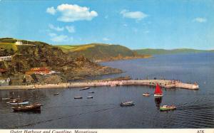 Vintage Postcard CORNWALL Outer Harbour & Coastline Mevagissey H. Barton #A7K
