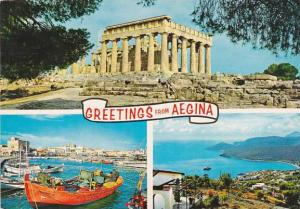 Greece Greetings From Aegina Multi View