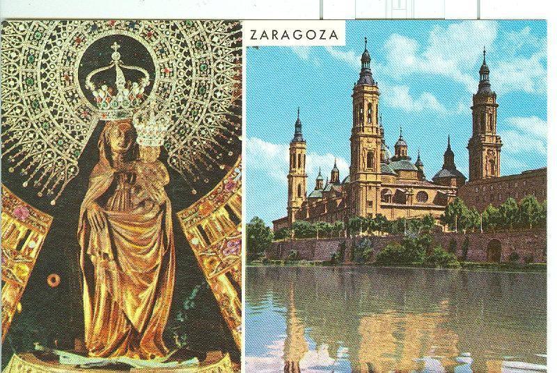 Postal 6197 : La Virgen y El Pilar de Zaragoza