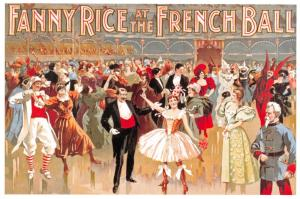 Vintage Poster Postcard, Fanny Rice at the French Ball, Dancing, Dance 33L