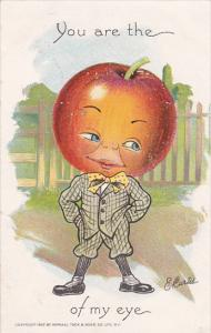E Curtis Figure With Large Apple For Head 1908 Tucks