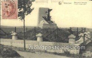 Monument fracals Waterloo, Belgium 1920 Stamp on front