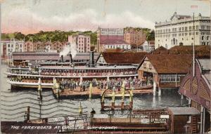 The Ferryboats at Circular Quay Sydney Australia AU Postcard E55 *As Is