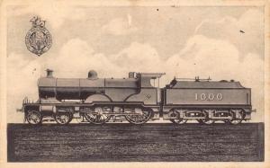 Vintage Postcard Midland Compound Express Bogie Passenger Engine No.1000