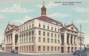 Florida Miami Central Baptist Church Curteich sk1575