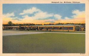 McAlester Oklahoma Seampruff Inc Exterior Linen Antique Postcard K20392