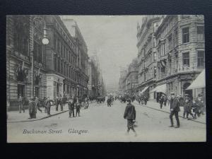 Scotland GLASGOW Buchanan Street & STURROCK HAIR DRESSING SALOON c1910 Postcard