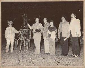 NORTHFIELD PARK Harness Horse Race, GLEADON CREEK  trophy presentation, 70-80s