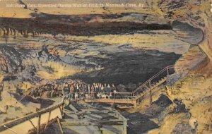 Caves Post Card Salt Petre Vats Mammoth Cave National Park, Kentucky, USA 1953