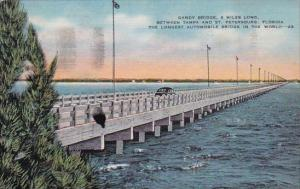 Florida Saint Petersburg Gandy Bridge 6 Miles Long Between Tampa And Sant Pet...