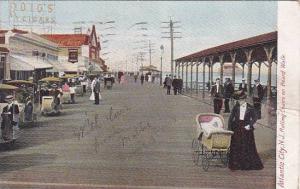New Jersey Atlantic City Rolling Chairs On Board Walk 1905