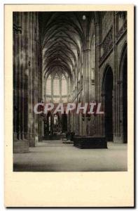 Czech Prague Old Postcard L & # 39interieur the cathedral of St. Vitus Prag