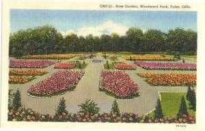 Rose Garden in Woodward Park, Tulsa, Oklahoma, OK,: Linen