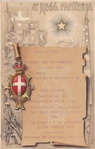 6 Regg. Fanteria , Military , PALERMO , Italy , 1890s