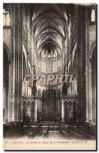 Old Postcard Amiens cathedral choir Grid