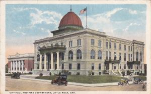 LITTLE ROCK , Arkansas , PU-1917 ; City Hall and Fire Department