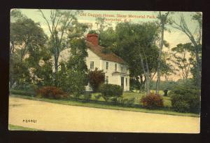 Pawtucket, Rhode Island/RI Postcard, Old Daggert House, Slater Memorial Park