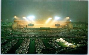 1960s DODGER STADIUM Los Angeles Postcard Night Bird's-Eye View Baseball Unused