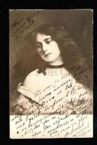 037921 Sad Lady BELLE Long Hair By Angelo ASTI vintage PHOTO