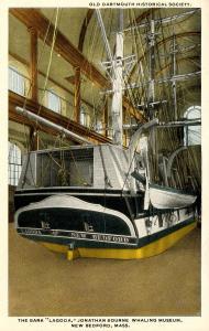 MA - New Bedford. Jonathan Bourne Whaling Museum, The Bark Lagoda