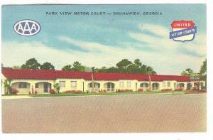 Park View Motor Court, Brunswick, Georgia, 30-40s