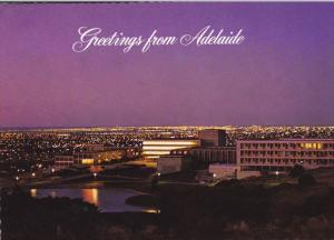 Night Lights from Flinders University, behind Tapleys Hill, Adelaide, South A...