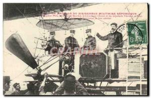 Postcard Old Airship Zeppelin The nacelle military airship Republic Captain M...