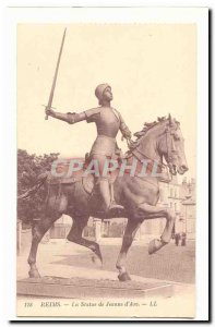 Old Postcard Reims before the Great War The statue of Jeanne d & # 39Arc