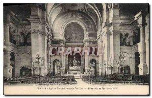 Postcard Old Paris Saint Francis Xavier Church and Altar Transept