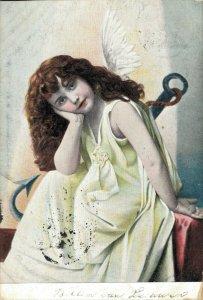 Beautiful Angel Vintage Postcard 03.45