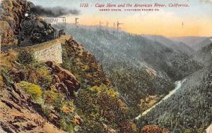 USA Cape Horn and the American River, Clifornia, railroad, train