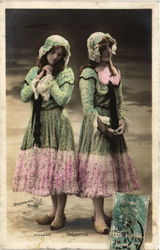 CPA AK Theater stars Lillian & Rosetta. (528778)