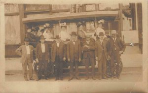 RPPC Denver Omnibus & Cab Co. Touring Automobiles c1910s Vintage Photo Postcard