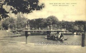 Swan Boats & Lake Boston MA 1941