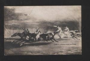 078168 Fast HORSES RACING by JERIKO vintage PC