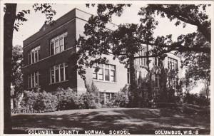 Wisconsin Columbus County Normal School 1946 Real Photo