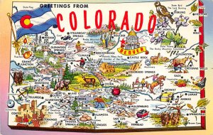 Maps Colorado USA Unused