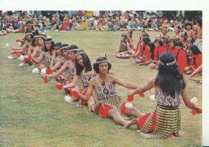 New Zealand Postcard - Maori Canoe - Poi Action Song - Rotorua - Ref 20531A