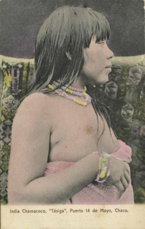argentina, CHACO, Chamacoco Indian Tasiga Girl (1910s)