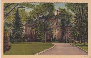 Admin Building Rome State School - Rome NY, New York - pm 1954 - Linen