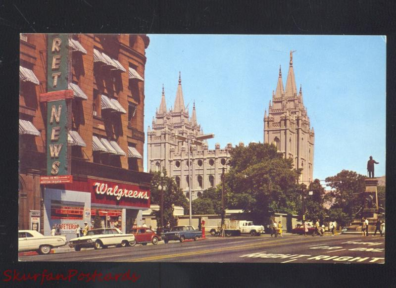 salt lake city utah 1960 s cars street scene walgreens drug store