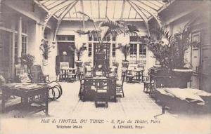 France Paris Hall de l'Hotel Du Tibre 1912