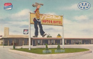 CHEYENNE , Wyoming, 30-40s ; Lincoln Highway ; Guest Ranch Motor Hotel
