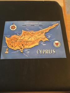 Vintage Postcard: Cyprus, Map