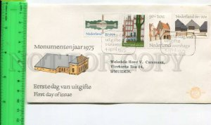 424932 NETHERLANDS 1975 year building First Day COVER