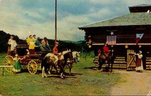New York Adirondacks Frontier Town Century Old Stagecoach