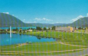 Canada Salmon Arm Hospital and Lake Salmon Arm British Columbia