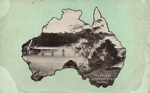 Bridge Lane Cove River Sydney Map Australia  c1910  P229