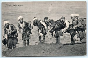 VTG 1944 Egypt Cairo Water Carriers Sand Men Workers Le Caire Fauvet Cepia A2